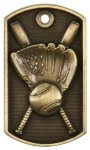 Baseball 3-D Dog Tag Medal 3-D Dog Tag Series
