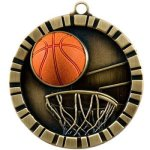 3-D IM Medals -Basketball 3-D Series Medal Awards
