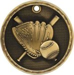 3-D Medal -Baseball 3-D Series Medal Awards