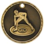 3-D Medal -Wrestling 3-D Series Medal Awards