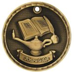 3-D Medal -Lamp of Knowledge 3-D Series Medal Awards