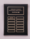 Black Piano-Finish Perpetual Plaque Achievement Awards