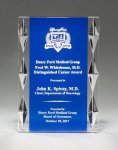 Acrylic Award with Blue Background and Jewel Accents Achievement Awards