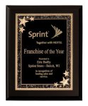 Matte Black Finish Starburst Plaque Award Achievement Awards