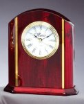 Desk Clock With Plate Achievement Awards