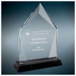 Diamond Halo Glass With Black Base Achievement Awards