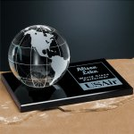 Galaxy Globe on Black Glass Base Achievement Awards