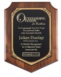 American Genuine Walnut Plaque with Satin Finish Achievement Awards
