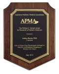Genuine Walnut Plaque with Satin Finish Achievement Awards