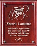 Rosewood  Plaque With Floating Acrylic Achievement Awards