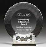 Corporate Crystal Facet Plates Achievement Awards