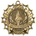 Ten Star Medal -Participant Archery Trophy Awards