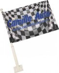Double Sided Car Flag with Pole Banners