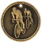 3-D Medal -Bicycling Bicycling Trophy Awards