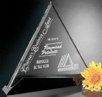 Cavalcade Triangle Black Optical Crystal Awards