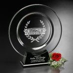 Astoria Plate Black Optical Crystal Awards