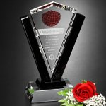 Conquest Award Black Optical Crystal Awards