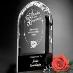 Cosmo Arch Black Optical Crystal Awards