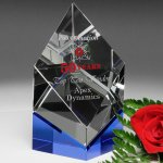 Vicksburg Indigo Award Blue Optical Crystal Awards