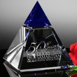 Vernita Indigo Peak Blue Optical Crystal Awards