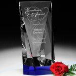 Valera Indigo Award Blue Optical Crystal Awards