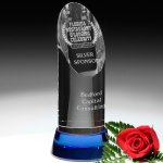 Vinton Indigo Award Blue Optical Crystal Awards