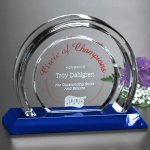 Halo Indigo Award Blue Optical Crystal Awards