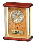 Mantle Clock Burl Wood Awards