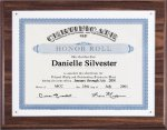 Walnut Finish Plaque with Certificate Plate Certificate Plaques