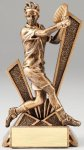 Checkmate Series Sculpted Antique Gold Resin Trophy -Tennis Male  Checkmate Series Sculpted Antique Gold Resin Troph