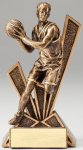 Checkmate Series Sculpted Antique Gold Resin Trophy -Basketball Male  Checkmate Series Sculpted Antique Gold Resin Troph