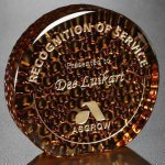 Recycled Glass Raindrop Copper Circle Awards