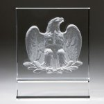 Majestic Eagle (White) Clear Optical Crystal Awards
