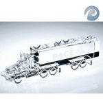 Truck - 18 Wheels Clear Optical Crystal Awards