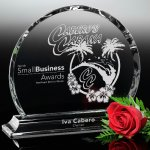 Colter Circle Clear Optical Crystal Awards