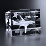 Collier Trapezoid Cube Clear Optical Crystal Awards