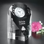 Eternity Clock Clear Optical Crystal Awards