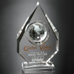 Magellan Global Award Clear Optical Crystal Awards