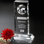 Lewiston Global Award Clear Optical Crystal Awards