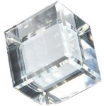 Crystal Cube Award Clear Optical Crystal Awards