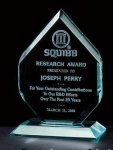 Thick Polished Diamond Acrylic Award Corporate Acrylic Award Series