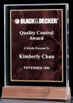 Acrylic Award with a Ruby Marble Center Corporate Acrylic Award Series