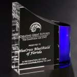 Faceted Wave Corporate Crystal Awards