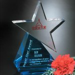 Azure Star Corporate Crystal Awards