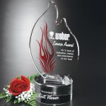 Wildfire Flame Corporate Crystal Awards