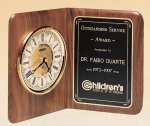 American Walnut Book Clock Corporate Plaques