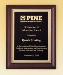 Cherry Finish Plaque Corporate Plaques