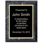 Improved Black Marble Plaque Corporate Plaques