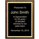 Bevel Walnut Veneer Plaque Corporate Plaques