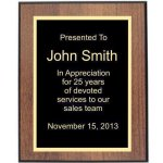 Walnut/Black Edge Plaque Corporate Plaques